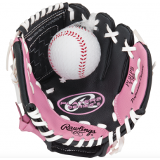 RAWLINGS PLAYERS 9 INCH YOUTH T-BALL GLOVE WITH TRAINING BALL  Baseball Gloves