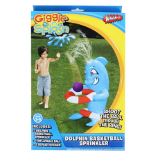 Giggle 'n Splash Dolphin Basketball Sprinkler Slip N Slide