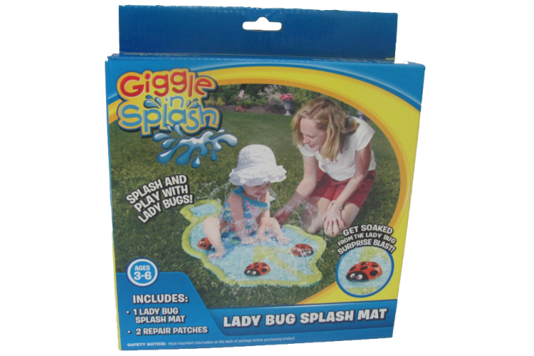 Giggle N Splash Lady Bug Splash Mat